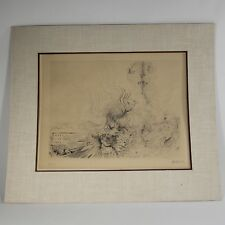 """Les Femes de Paris"" Drypoint Intaglio Print by Hans Bellmer COA Edition of 100"