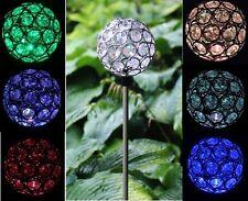 Solar Power Crystal Ball Garden Stake Lamp Landscape Color Change Yard LED Light