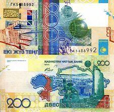 Kazakhstan 200 Tenge Banknote World Paper Money UNC Currency PICK p-28 Bill Note