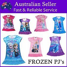 NEW Girls Disney Pyjamas Pj Nightie Dress Frozen Princess Anna Elsa Sofia Dora