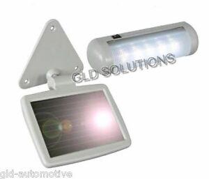 LAMPADA 5 LED CON PANNELLO SOLARE Waterproof che ricarica la batteria integrata