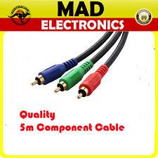 10 Lots x 5m 3RCA RGB Component Video Cable Lead RGB YUV YPbPr Red Green Blue