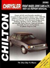 Chrysler FWD Cars 4 Cyl. 1981-95 Chilton Repair / Workshop Manual - 20382