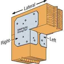 Simpson Strong-Tie ACE6 Adjustable Post Cap End Cap Galvanized (Set of 2)