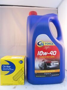 Fiat Doblo 1.9 JTD Diesel Oil Filter + 5L 10w40 Engine Oil Kit 2004 to 2010 OPT2