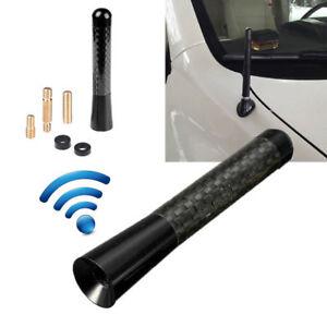 """Universal 3"""" Black Aluminum Alloy Carbon Fiber FM AM Radio Car Antenna Aerial"""