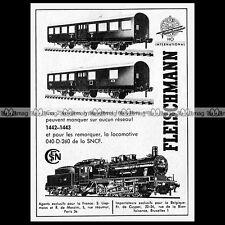 FLEISCHMANN HO Train Electrique 1142-1433 Loco 040 : Pub 1966 Publicité Ad #D219