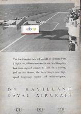 DE HAVILLAND NAVAL AIRCRAFT SEA VAMPIRE ROYAL NAVY CARRIER 1947 AD