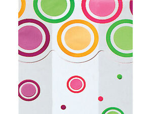 "25 Mod Dots Bright 4x2x9"" Cello Bags 1.2 mil cellophane FDA Food Safe Candy Bags"