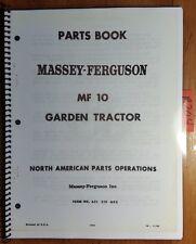 Massey Ferguson MF 10 Garden Tractor & Accessories Parts Book Manual 1/67