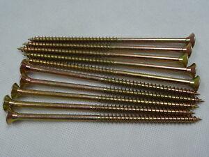 6mm x 130mm CSK POZI Single Thread Woodscrews ZYP - per 100