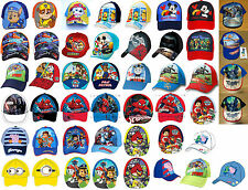 Boys Kids Skylander PJ Mask Minion Cars Summer Sun Baseball Cap age 1-12 Years