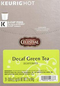 Celestial Seasonings Decaf Green Tea 24 to 144 Keurig K cups Pick Your Own Size
