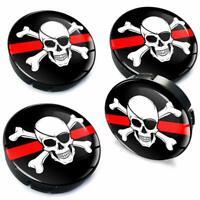 60mm Universal Car Wheel Centre Hub Cover Center Rims Caps Pirate Flag C 94