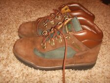 {16737} KIDS TIMBERLAND FIELD BOOTS BROWN Size 3 Youth