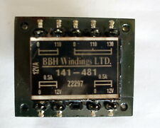 VINTAGE BBH WINDINGS LTD TRANSFORMER 141-481 - 12 VA