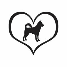 Love Canaan Dog Heart - Decal Sticker - Multiple Color & Sizes - ebn1437