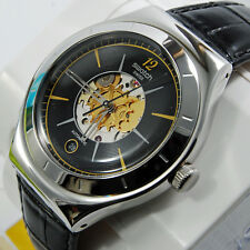swatch irony automatic nero dark sky orologio automatico uomo rare skeleton