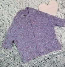Kookai heavy weight knit open front sweater cardigan purple pink size 1 small