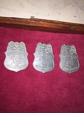 3ct Lot Dick Tracy Crimestopper pin back detective badges Comic book character