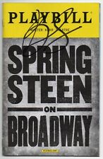 BRUCE SPRINGSTEEN On Broadway signed playbill AUTOGRAPH IN PERSON Proof MINT