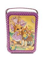 "Vintage Giftco Inc. Easter Metal Tin Ballerina Easter Bunnies 5""x4.75"""