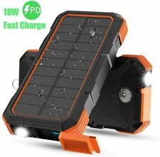 20000mAh Solar Power Bank Waterproof USB LED Battery Charger For Mobile Phone UK