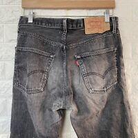 Vintage Levi's 501 Men's Charcoal Black Jeans W31 L31
