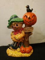 "Vintage 1980s Halloween Kid- Scarecrow Ceramic 12""..#JL13"