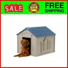 Dog House Large Breeds Insulated Roof Weatherproof Big Kennel Shelter Cabin