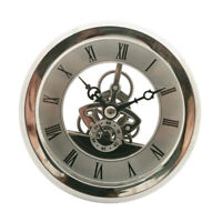 103mm Dial Silver Bezel Skeleton Clock Insert Movement with Roman Numbers