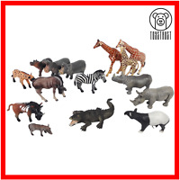 Mixed Safari Animals Lot of 15 Toy African Animal Bundle by Schleich & Papo A3