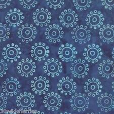1/2 Yard Batik Hometown Girl Moda Fabric Quilt 100% Cotton 43067 11 True Blue