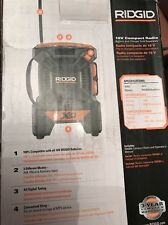 RIDGID X4 Mini Jobsite Radio 18 V Lithium Ion Cordless AM FM Portable Bare Tool