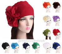 Indian Women Stretch Flower Turban Muslim Hijab Head Wrap Head Cover Headwear