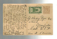 1924 Netherlands postal stationery postcard Cover to USA Stamp Collector