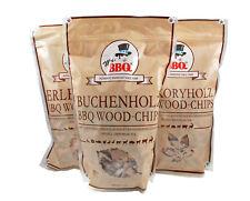 Räucherchips, BBQ Wood-Chips von Mr. BBQ® in BUCHE/ERLE/HICKORY | 3x1,7LITER |