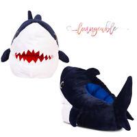 Loungeable Mens Novelty 3D Shark Design  Slip on Warm Soft Plush Slippers