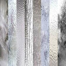 """Clear Textured Glass Variety (6"""" x 8"""") Pack 8 Sheets Stained Glass"""