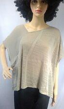 Gentle Fawn womens top size S asymmetrical neckline brown burnout sheer dolman