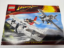 LEGO Indiana Jones Fighter Plane Attack (7198) 384 pc Set - Missing 8 Pieces