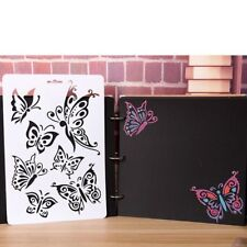 Butterflies Masking Spray Stencil Layering Stencils Wall Painting Decorative DIY