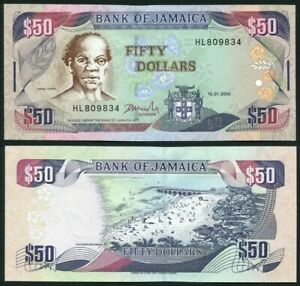 JAMAICA 50 Dollars, 2004, P-79e, UNC World Currency