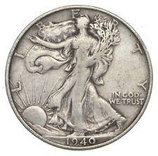 XF+ 1940-S Walking Liberty 90% Silver US Half Dollar - NICE COIN *873