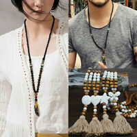 Pendant Mala Ethnic Buddhist Fish Necklace Horn Handmade Nepal Bead Jewelry Long