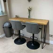 Rustic Breakfast Bar Worktop Kitchen Table Stool