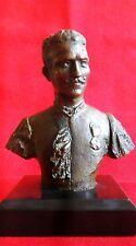 sculpture buste en bronze homme d'un poids de 1,294 kg hauteur 12 cm avec socle