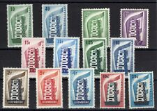 Europa: Year Fully 1956 Of 13 Stamps New Value