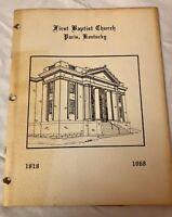 VTG 1968 First Baptist Church Paris, Kentucky~ Yearly Directory~Members Photos