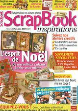 SCRAPBOOK INSPIRATIONS N°11 ESPRIT DE NOEL  / 70 REALISATIONS EXPLIQUES
